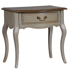Aged Taupe End Table