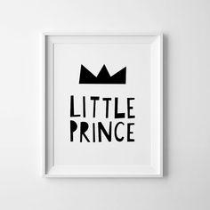 Printable wall art, baby boy nursery quote Little Prince kids decor, Scandinavian print, digital art, playroom poster.  - High quality PDF and JPEG
