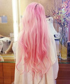 long hair #pastel #pink #girly