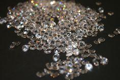 Streudeko, Strass, 50g Kristall Diamanten, klar weiß,DM 6mm, Tischdeko, Hochzeitsdeko,glitzer,Strasssteine, Weihnachtsdekoration, Kristalle von Pompompous auf Etsy