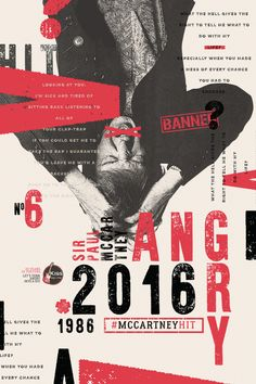 """Poster campaign supporting an initiative by Brazil radio station Kiss FM designed to get Paul McCartney's lesser-known 1986 song """"Angry"""" to the top of the Poster Layout, Poster Design, Graphic Design Posters, Graphic Design Typography, Graphic Design Illustration, Web Design, Layout Design, Design Art, Print Design"""