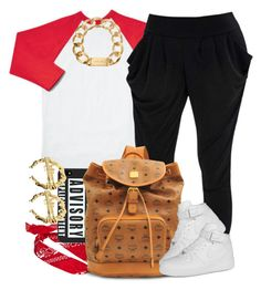 """Young G."" by livelifefreelyy ❤ liked on Polyvore featuring River Island, MCM, NIKE and Michael Kors"