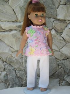 """2-piece pant outfit for an 18"""" doll.. $12.00, via Etsy."""
