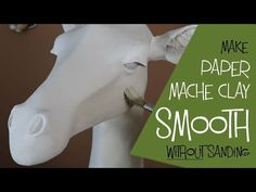 Make Paper Mache Clay Smooth Without Sanding. In my last video I said I would add a second layer of paper mache clay to my giraffe to make the sculpture smoother. But then I remembered an easier way to do it - and you dont need to do any sanding at all. Paper Mache Diy, Paper Mache Paste, Paper Mache Projects, Making Paper Mache, Paper Mache Sculpture, Clay Projects, Diy Paper, Clay Crafts, Paper Art