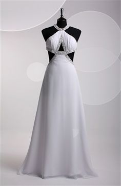 Gorgeous dress with beading details, backless. #Promdress - OuterInner.com