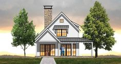 Plan Cozy Farmhouse Plan with Upstairs Loft … – Farmhouse Plans House Plan With Loft, Small House Floor Plans, Modern House Plans, Loft Plan, Cheap House Plans, Small Farmhouse Plans, Modern Farmhouse Exterior, Cottage House Plans, Craftsman House Plans