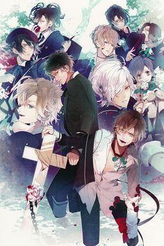 Diabolik Lovers ((Ayato Sakamaki, Kanato Sakamaki, Laito Sakamaki, Shuu Sakamaki, Reiji Sakamaki, Subaru Sakamaki, Ruki Mukami, Kou Mukami, Yuuma Mukami, Azusa Mukami))