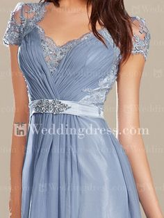 young mother of the bride dresses_Cornflower