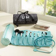 Jet-Set Multi Dot Makeup Brush Roll | PBteen - Not a sewing pattern, but wouldn't be hard to make something similar