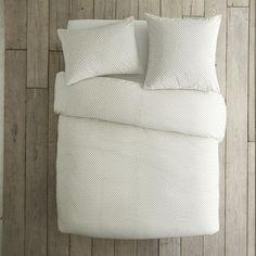 west elm swiss dot duvet cover + shams white/slat