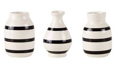 Dekorace | Vázy | Krémová váza s černými pruhy | La Déco