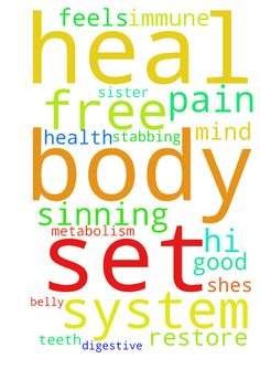 Hi can you pray that god sets me free from sinning - Hi can you pray that god sets me free from sinning and can u pray that god heals my teeth and my body my immune system metabolism system digestive system and restore my body with good health and can u pray that god heals my sister as she has pain in her belly and it feels like its stabbing her and shes in pain can u pray that god will heal her body and mind and set her free Posted at: https://prayerrequest.com/t/HRN #pray #prayer #request…