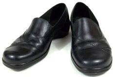 Clarks Loafers Womens Size 6.5 M Solid Black Shoes #Clarks #LoafersMoccasins #WeartoWork