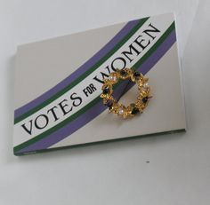 Give Women The Vote. Suffragette, Hand Coloring, Rosettes, Pearl White, Costume Jewelry, Color Schemes, Brooch, Hand Painted, Colours