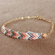 woven chevron friendship bracelet.