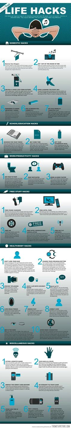 #Technology: Life #hacks life hacks how to make your life easier Tips Life Hacks Easy #DIY Do It Yourself Uses Hack Reuse Renew Easier How to Design