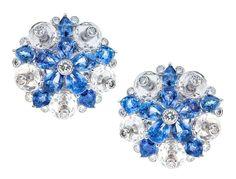 Sapphire Rock Crystal Diamond Earclips by Aletto Bros. -> https://www.1stdibs.com/jewelry/earrings/clip-on-earrings/sapphire-rock-crystal-diamond-earclips-aletto-bros/id-j_493152/