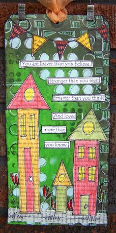 ten thirty-six arts and crafts ... ellen vargo: Braver, Stronger, Smarter - Dylusions Tag