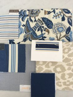 Melinda Hartwright Interiors, Hamptons homes, interior decorating, blue and white // Hamptons Style Online Hamptons Decor, Hamptons House, The Hamptons, Moodboard Interior, Room Colors, Colours, Fabric Wallpaper, White Decor, Coastal Decor