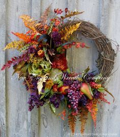 Elegant Tuscany Harvest Wreath by NewEnglandWreath