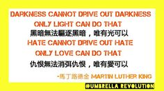 Darkness cannot drive out darkness, only light can do that. Hate cannot drive out hate, only love can do that ~Martin Luther King