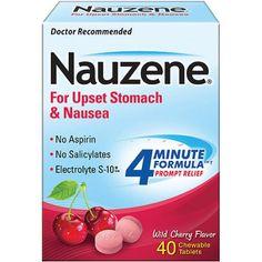 Nauzene Chewables For Nausea Wild Cherry Flavor Tablets, 40ct