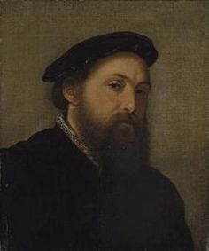 Giovan Battista Moroni - Portrait Of A Gentleman, Bust-length, In A Black Coat And Hat