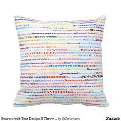 Beavercreek Text Design II Throw Pillow