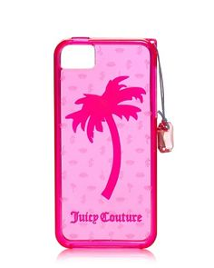 Juicy Couture Gelli Palm Tree iPhone 5 Passion Pink - - Once upon a time in a faraway land called Pacoima, there were two nice girls who liked stuff. Juicy Couture swept the land and t Iphone 5 Cases, Cute Cases, Apple Iphone 5, Tech Accessories, Juicy Couture, Palm, Pink Apple, Stuff To Buy, Pink Iphone
