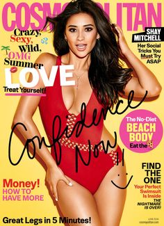 Shay Mitchell on the June 2016 Cover of Cosmopolitan Magazine
