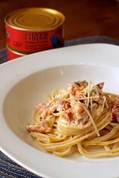 smoked salmon linguine with lemon cream sauce