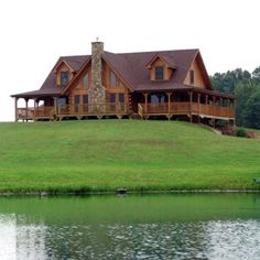 Log Cabin.  A girl can dream.  Now where did I put my fishing pole.