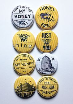 Bee Mine Flair by aflairforbuttons on Etsy