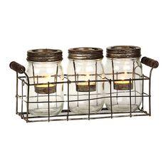Mason Jar Tealight Candle Runner | Kirklands