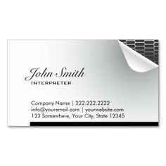 216 best interpreter business cards images on pinterest in 2018 cool steel inside interpreter business card reheart Images