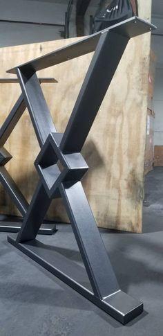 Farmhouse Table Base, Metal Base Dining Table, Coffee Table Base, Metal Table Legs, Dining Table Legs, Rustic Table, Diy Table Legs, Art Nouveau Furniture, Metal Furniture
