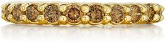 Penny Preville 18k Champagne Diamond Eternity Ring, Size 6
