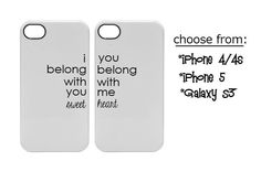 His and Hers iPhone 4/ iPhone 5/ Galaxy S3 phone by OSusannahs, $24.99