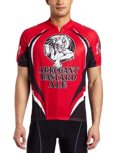 Canari Cyclewear Mens Arrogant Bastard Jersey Red XLarge    Details can be  found by clicking 7cfbc30a8