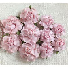 20 Mixed Size of Handmade Mulberry Paper Flowers Pale Pink Wedding Roses MR - 124 #Pink #Wedding #PinkWedding #Paper