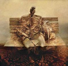 Zdzislaw Beksinski February 1929 – 21 February was a renowned Polish painter, photographer, and sculptor. Beksiński executed his paintings and drawings either in what he called a 'Baroque' or a 'Gothic' manner. Beksiński was murdered in Arte Horror, Horror Art, Fantasy Kunst, Art Database, Traditional Paintings, Fantastic Art, Surreal Art, Dark Fantasy, Dark Art