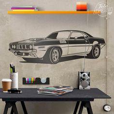 Vinilos Decorativos: Ford Mustang Muscle Car #ford #mustang #coche #usa #eeuu #motor #vinilo #decoración #pared #TeleAdhesivo