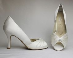 6c79f65333 Angela Nuran Ginger Silk Pump Dyeable Shoes, Wedding Pumps, Classic Chic,  Special Occasion