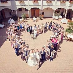 Fun heart shaped wedding photo idea!
