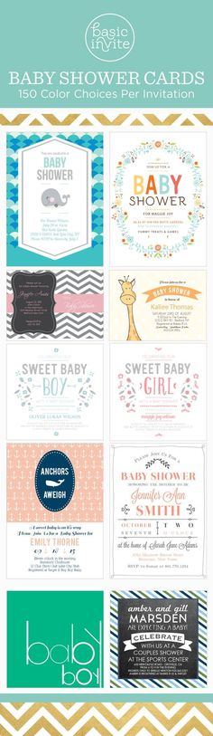 Each invitation comes in over 160 different colors.