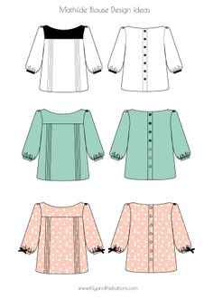 Tilly and the Buttons: Mathilde Blouse. Dozens of possibilities.