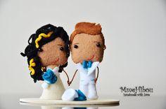 PRIVATE LISTING - Handmade Wedding Cake Topper