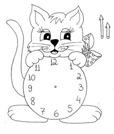 Alfabetização... Retirado da net... Primary School Education, Kids Education, English Activities, Preschool Learning Activities, Math Clock, Clock Craft, Clock Face Printable, Montessori Math, Animal Crafts For Kids