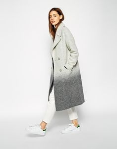 ASOS Oversized Coat in Ombre Boiled Wool