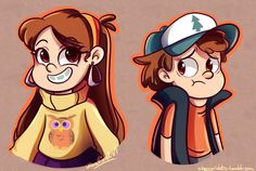 Artist: Cherry Violets. Dipper and Mabel Pines